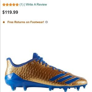 Adidas Adizero 5 Star 6.0 gold cleats